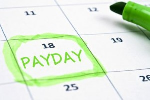 payday marked on calendar picture