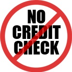 no credit check sign
