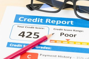 An image of a bad credit report