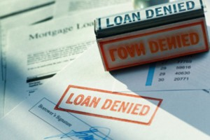 An image of a loan denied form