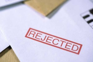 An image of a rejection letter
